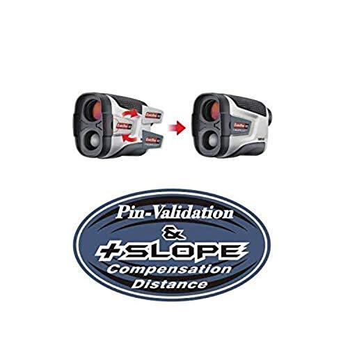 CaddyTek Telémetro láser de Golf CaddyView V2 + Jolt & Slope con función de Pendiente y Jolt, Color Plateado, Talla única