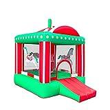 AIYIFU Castillo Hinchable Carrusel con Tobogán para Niños Up Cama Elástica para Parque Patio Jardín,