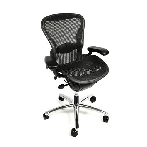 Aeron Size B Fully Loaded Polished Base Office Chair (Renewed)