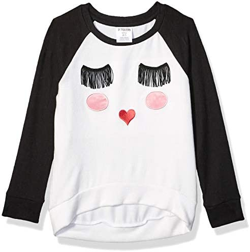 Spotted Zebra Girls Long Sleeve Cozy T Shirts Sweet Face Small product image