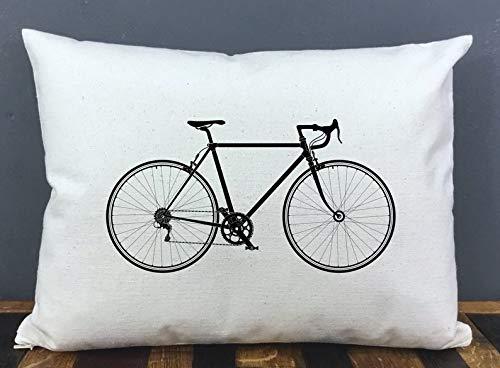 Meg121ace - Funda de almohada para bicicleta, funda de almohada de viaje, funda de almohada para bicicleta, regalo para ciclista, regalo para ciclista, regalo para ciclista, funda de almohada, funda de almohada pequeña, bicicleta, bicicleta