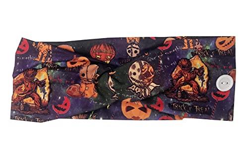 Halloween Headbands Trick or Treat Sam Headband with Buttons, Halloween Costumes Accessories for Women Girls Costume…