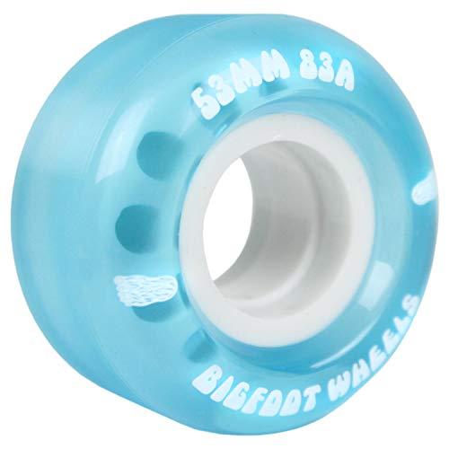 Bigfoot - Ruedas para monopatín (55 mm, 83A, 4 Unidades), Color Azul