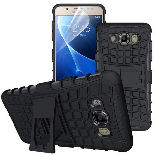 betterfon   Outdoor Handy Tasche Hybrid Case Schutz Hülle Panzer TPU Silikon Hard Cover Bumper für Samsung Galaxy J7 (2016) SM-J710 Schwarz