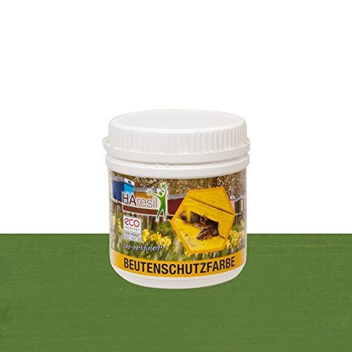 HAresil Beutenschutzfarbe Beutenschutz Bienen Beuten Lasur Farbe grün Inhalt Gewicht 0,5 kg