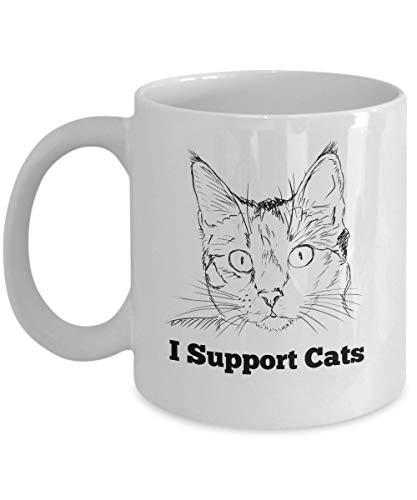 Purr-fect - Taza de gato loco - Apoyo a los gatos - Ideas de regalos para amantes de los gatos para gatos, mamá, papá, novia, novio - Regala para cumpleaños, aniversario, para cualquier amante de los