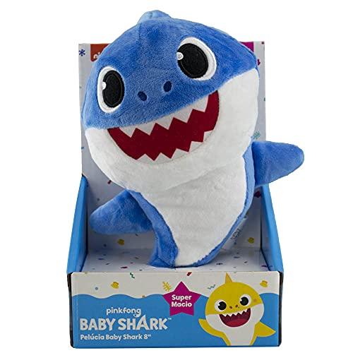BABY SHARK PELÚCIA DE 20CM - SUNNY (Azul)