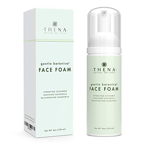 Thena Facial Cleanser With Refreshing Cucumber Soothing Calendula & Vitamin E | Natural & Organic Skin Care Anti aging Face Wash For Women Men Moisturizing Face Wash Facial Cleaner