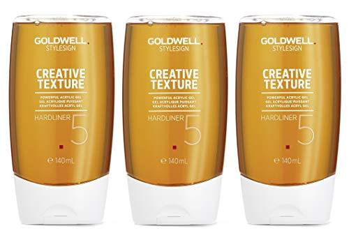 3x 140ml Goldwell Hardliner Haargel Style CreativeTexture 3x140ml ultra-strong 5