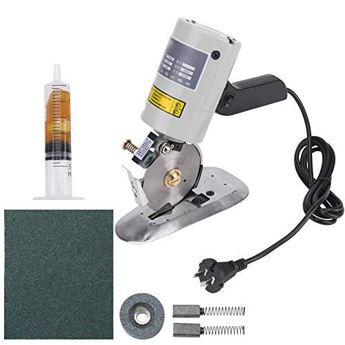 Elektrischer Stoffschneider, 220V Elektrische Rotationsschneidemaschine, 90 mm Rotationsklinge aus legiertem Stahl, Elektrische Rotationsschere für Lederwolle Bekleidung Gummitextilien
