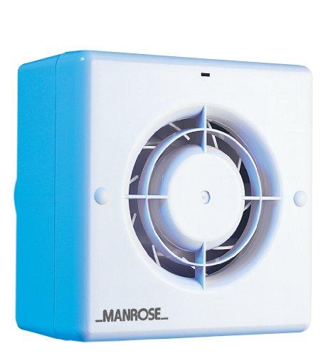 Manrose CF100T - Ventola centrifuga di estrazione per bagno/toilette con timer per tubi da 100 mm