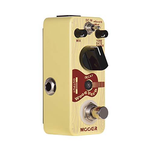 Bulufree WoodVerb Guitarra acústica Pedal de reverberación Pedal de reverberación digital Modos de reverberación/mod/filtro True Bypass Micro Series Pedal compacto