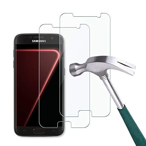 Carantee Panzerglas Schutzfolie Kompatibel mit Samsung Galaxy S7, HD-Klar Panzerglasfolie, Anti-Kratzer Anti-Öl Bläschenfrei Schutzglas, 2.5D Rand Einfacher Montage Displayschutzfolie [2 Stück]