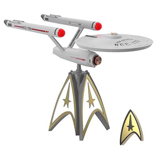 Hallmark Keepsake 2020, Star Trek U.S.S. Enterprise Storytellers Musical Christmas Tree Topper With Light