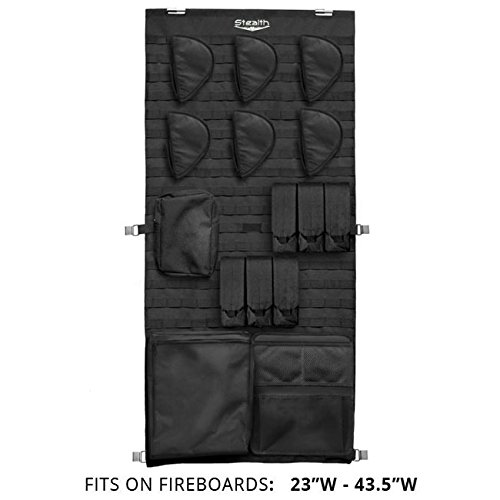 Stealth MOLLE Gun Safe Door Panel Organizer Medium - Fully Customizable &...