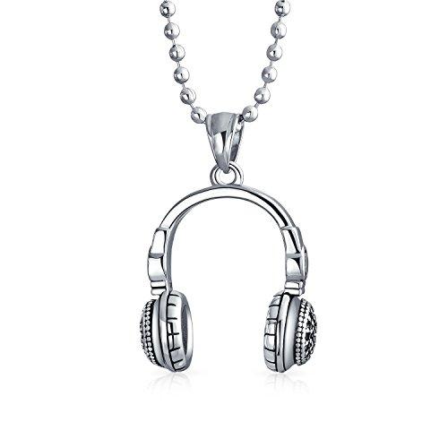 Bling Jewelry Amante Música Hip Hop Auriculares DJ Collar Colgante...