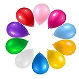 120 Piezas Globos Latex de colores variados Globos Helio Latex Perla Ø 30 cm para Bebe Año Cumpleaños,Niño Bautizos Comunion Baby Bodas Aniversario Graduacion Fiesta Arco Decoracion