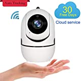 1080P Home Security WiFi IP Camera, Auto Track Wireless Indoor Surveillance Security Cam System, Baby/Pet/Nanny/Doggie Monitor,Two Way Audio, Motion Detection, Night Vision, iOS/Android,Cloud Service