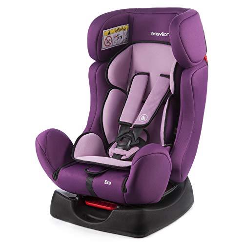 BABYLON Babysitz Auto Era, Autokindersitz Gruppe 0/1/2, Kindersitz 0-25 kg (0 bis 7 Jahre). Kindersitz mit Top Tether 5 Punkt Sicherheitsgurt. Autositz ECE R44/04 Lila/Licht Lila