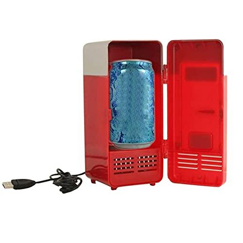 OYZY Mini refrigerador, USB LED Mini refrigerador Refrigerador USB Bebidas Latas de Bebidas Refrigerador y Calentador Enfriador de Bebidas Tanque de enfriamiento para Oficina Dormitorio Escuela