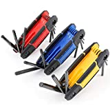 TOPLINE 25-Piece Folding Hex Key Set, SAE, Metric, Torx Allen Wrenches Included