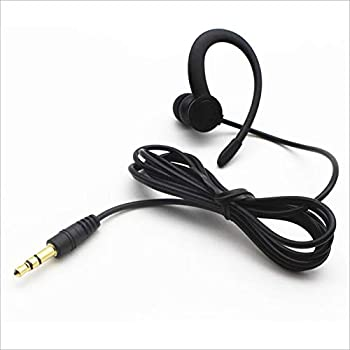 Single Side Earbud Headphones Stereo in-Ear Earphone Ear Hook Earpiece for iPhone Android Smartphones MP3 Players