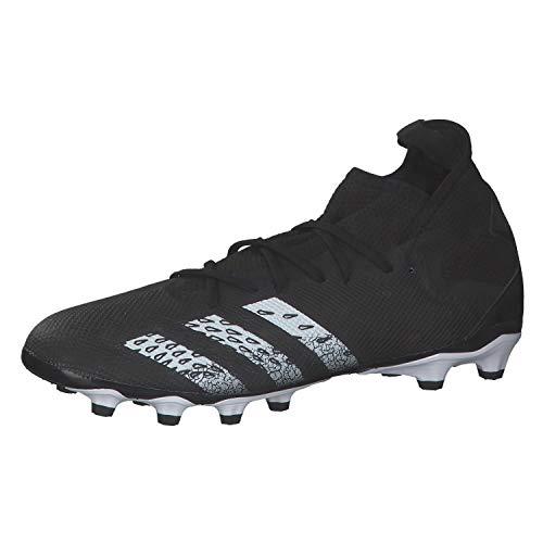 adidas Predator Freak .3 MG, Zapatillas de fútbol Hombre, NEGBÁS/FTWBLA/NEGBÁS, 42 2/3 EU