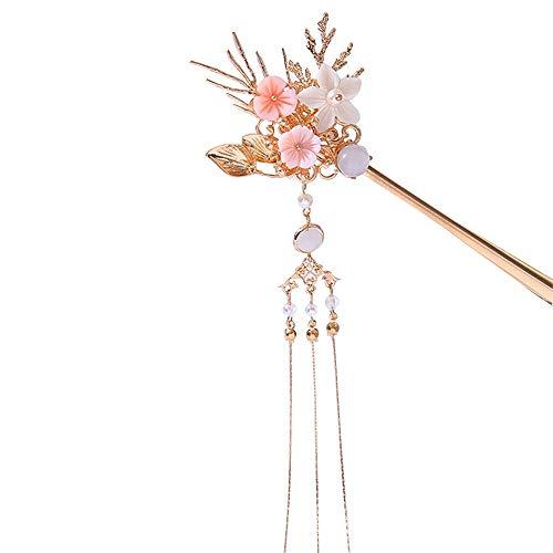 Wushu Haarspangen Chinesische Retro Perle Quaste Blume Haarnadel Hanfu Chinesischer Traditioneller Kopfschmuck