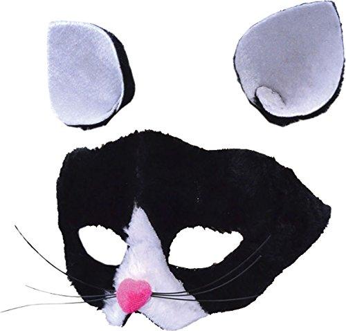 Cat Mask + Ears, Glasses Frame Mask, Halloween Fancy Dress, Accessory