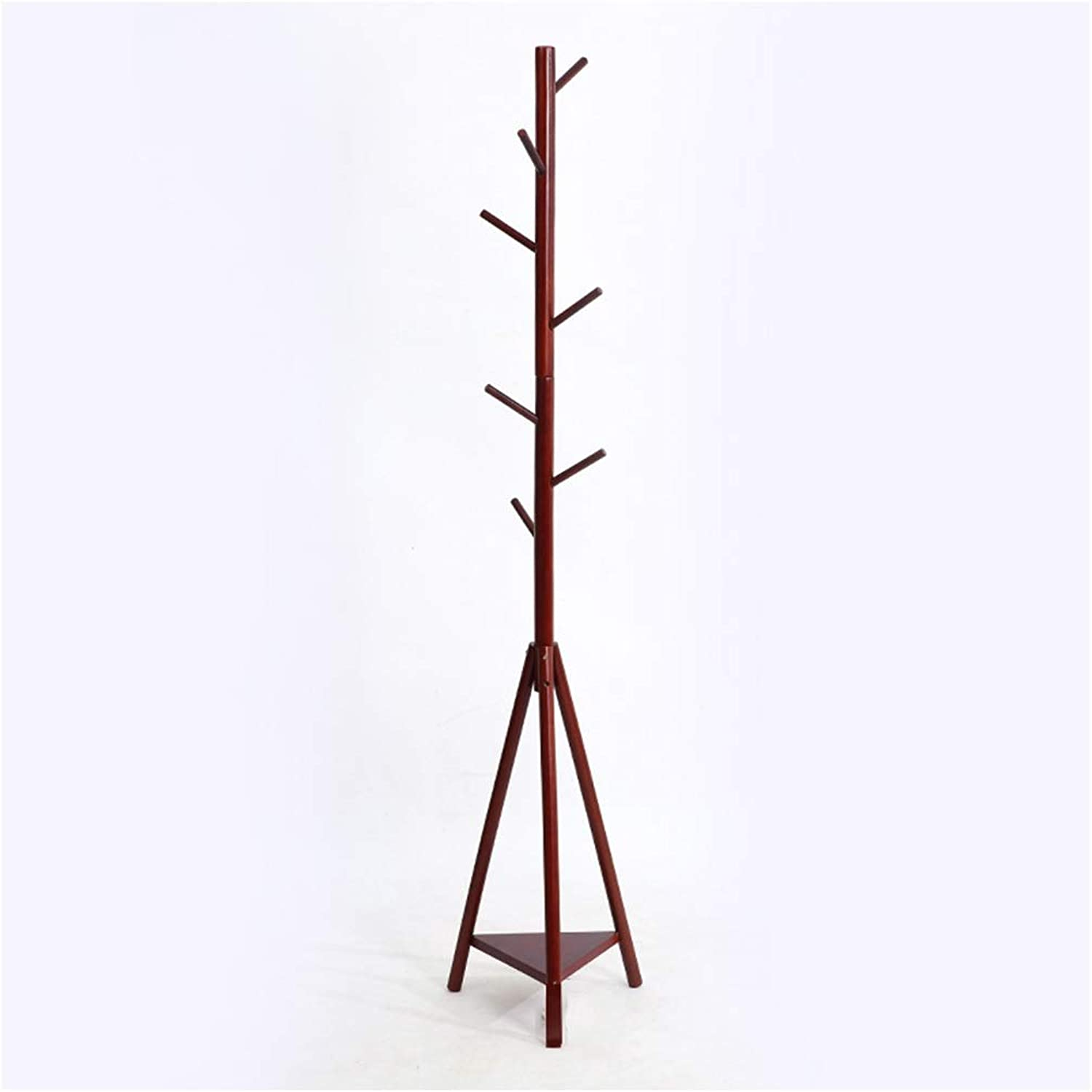 Qi_Hallway Furniture Standing Coat Rack Solid Wood Landing Hall Trees Porch Bedroom Entryway White Wood Red Brown Coast Stand Clothes Rack Clothes Hat Scarf Umbrella Stand Standing Coat Racks