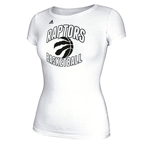 adidas NBA Damen Basketball Graphic Cap Sleeve Tee Small weiß