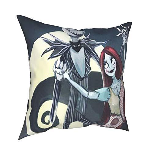 Almohada para videojuegos de Nightmare-Before-Christmas-Game Pillow para jugadores, decoración de sala de juegos, 45,7 x 45,7 cm