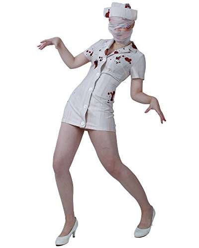 Miccostumes Women's Silent Hill Nurse Cosplay Costume, Multicolor, Large