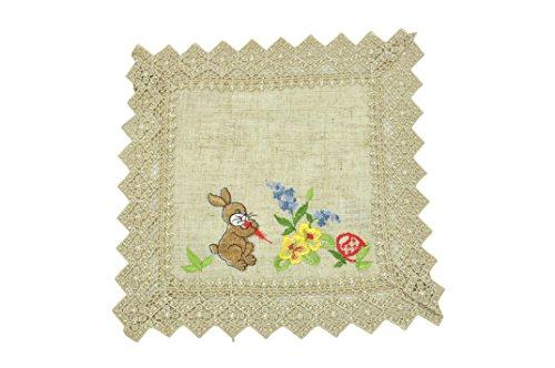Bellanda 3543–30 x 30 rectangulaire Sets de Table, Polyester, Naturel, 30 x 30 x 0,5 cm