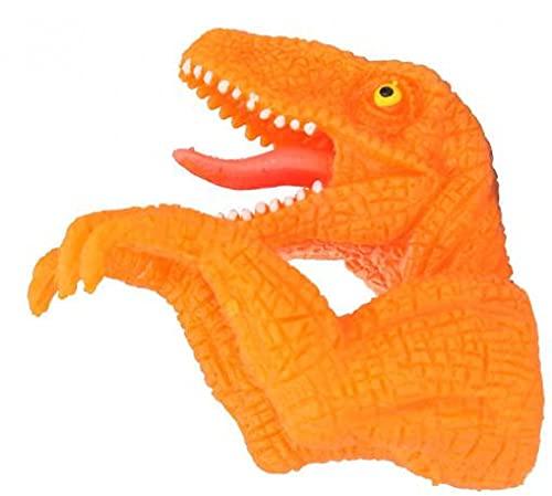 DinoWorld Dino Junior - Marioneta de dedo (7 x 5,5 cm), color naranja