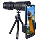 LRIO Kit de lente de teléfono móvil, zoom HD 10-300X con trípode, juego de lentes para teléfono móvil, para Samsung, iPhone y otros smartphones, bueno para deportes, camping, caza