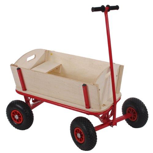 Mendler Bollerwagen Handwagen Leiterwagen Oliveira ~ mit Sitz, mit Bremse, ohne Dach