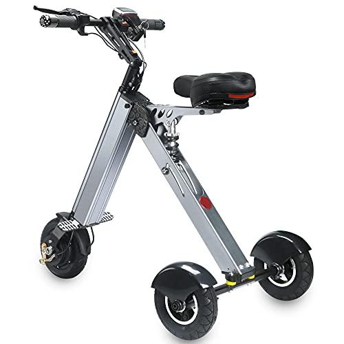 TopMate ES31 Triciclo Eléctrico Plegable Mini Patinete, Scooter Eléctrico de 3 Ruedas...