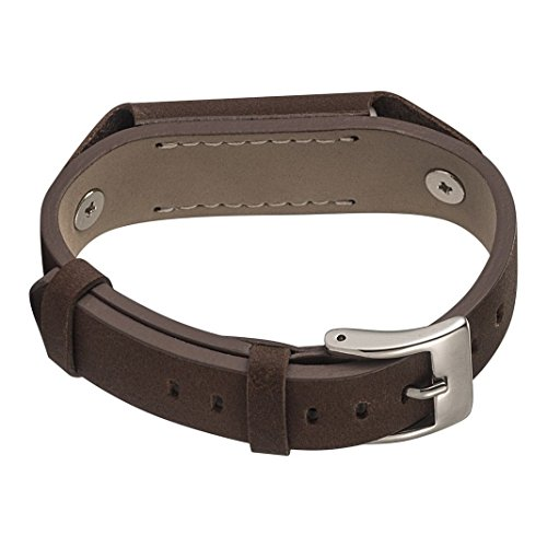 Fitbit Flex 2 Uhrarmband,Fitbit Flex 2 Leder Bands, Damen/Herren armbänder Braun Leder Uhrarmband,Leder Metall Schließe UhrArmband,Uhr Zubehör Armband Gurtband für Fitbit Flex 2 Fitness Tracker