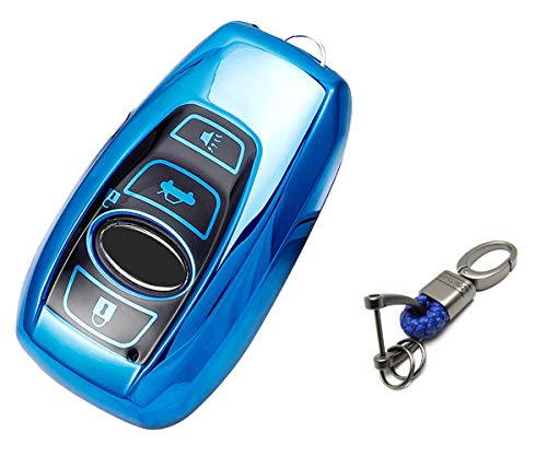 Key Fob Cover for Subaru WRX Outback Ascent Forester Crosstrek accessories Blue