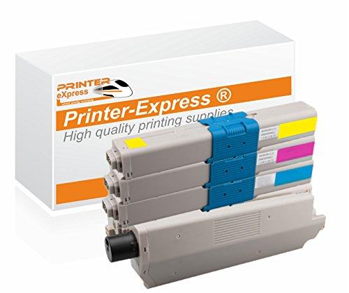 Printer-Express XL Toner 4er Set ersetzt OKI C301, C321, 44973536, 44973535, 44973534, 44973533 für OKI C301 C301DN C321 C321DN / MC332 MC332DN MC342DN MC342 MC342DNW Drucker