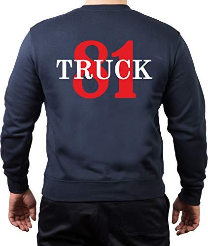 Sweat-shirt bleu marine Chicago Fire Dept. Truck 81 - Bleu - Small