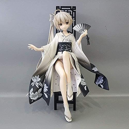 Hearsnow Figura de Acción Anime Anime Figura Figura de acción Yosuga No Sora Kasugano Sora Kimono Silla Situación Sentado 17cm Decoraciones Estatuilla Niños Juguetes Doll Gift Anime Figura