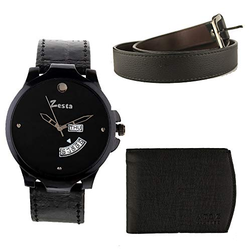 Huge discount on Combo set of Watches belt and a wallet