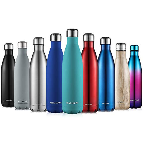 CMXING Botella De Agua 500ML/750ML de Doble Pared con Aislamiento de Botella de...