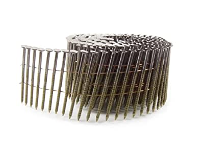 B&C Eagle A238X099RC Round Head 2-3/8-Inch x .099 x 15 Degree Bright Ring Shank Wire Collated Coil Framing Nails (500 per box) from B & C Eagle