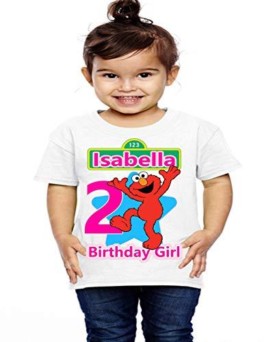 Elmo Birthday Shirt, Birthday Girl Shirt, Sesame Street Birthday Shirt, Girl Elmo Birthday Shirts