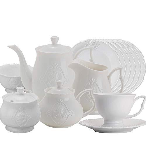Jogo para Chá Queen 17 peças Porcelana Lyor