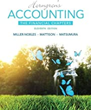 Horngren's Accounting, The Financial Chapters (11th Edition) - Standalone book