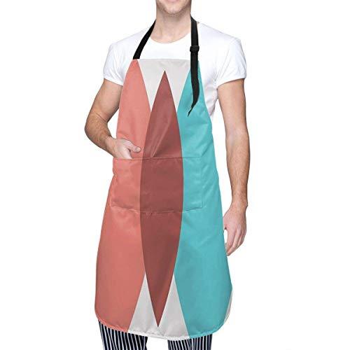 N\A Dillon - Delantales Unisex para Cocina, Ropa para el hogar, duraderos con Cuello Ajustable para cocinar, jardinería, Hornear